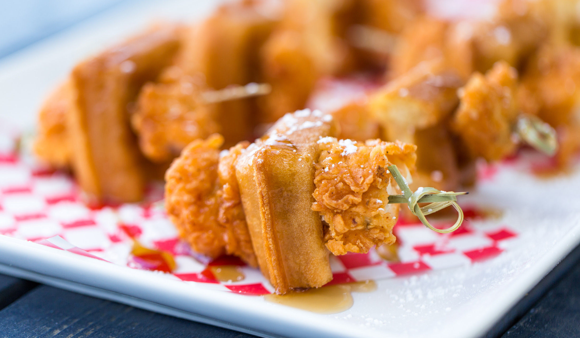 Chicken waffle bites